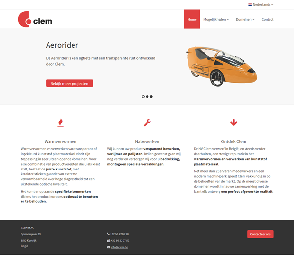 Responsive website Clem