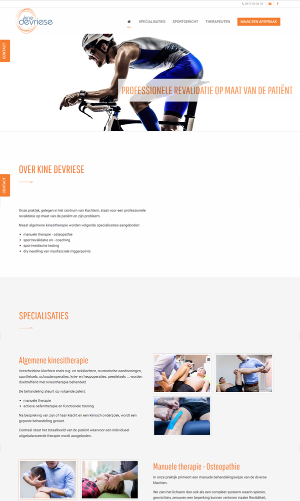 Responsive website Kine Devriese