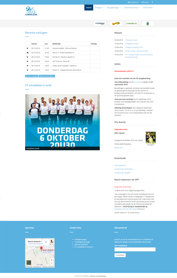 Responsive website Volleybalteam Lendelede